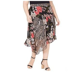 INC International Concepts Plus Size Mid Skirt NWT